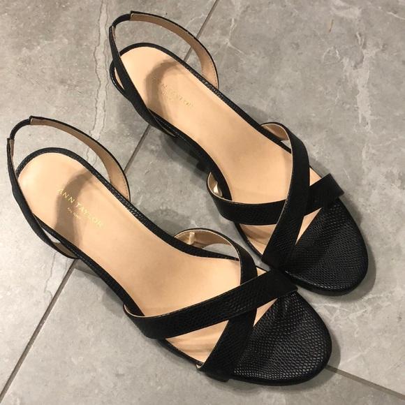 Ann Taylor Sling-back kitten heels
